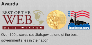Best of the Web award for utah.gov